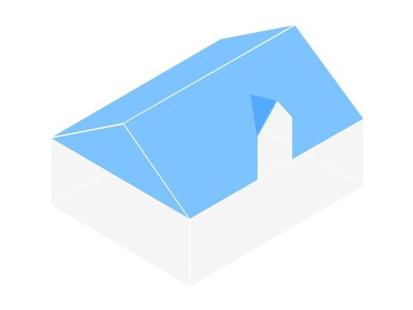 Haus mit Zwerchdach
