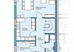 Doppelhaus 45-119 Grundriss