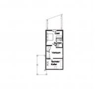 E 15-125.1 - Schmales Hauskonzept Grundriss