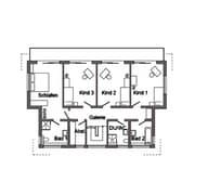 E 15-218.1 - Funktionshaus mit großer Fensterfront Grundriss