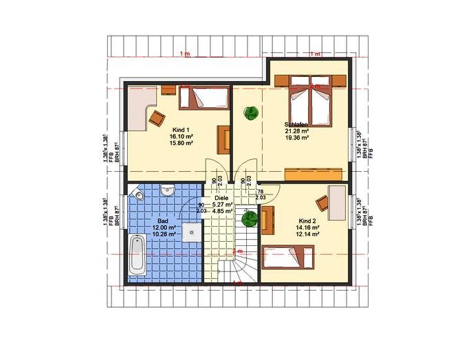 Flieder von AVOS Hausbau Grundriss 1