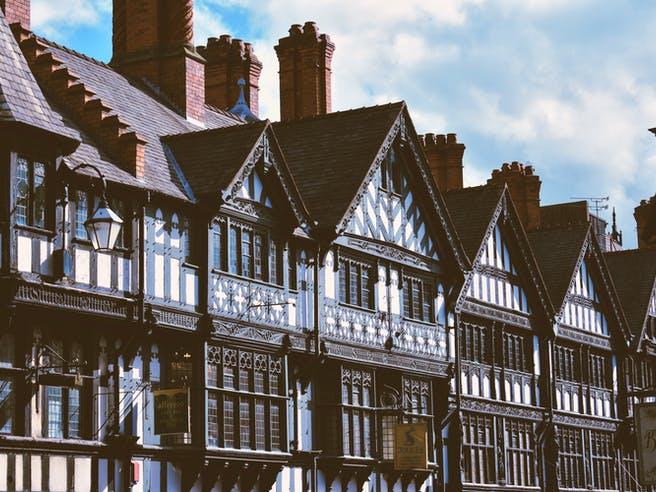 Alte Fachwerbauten in einer Altstadt