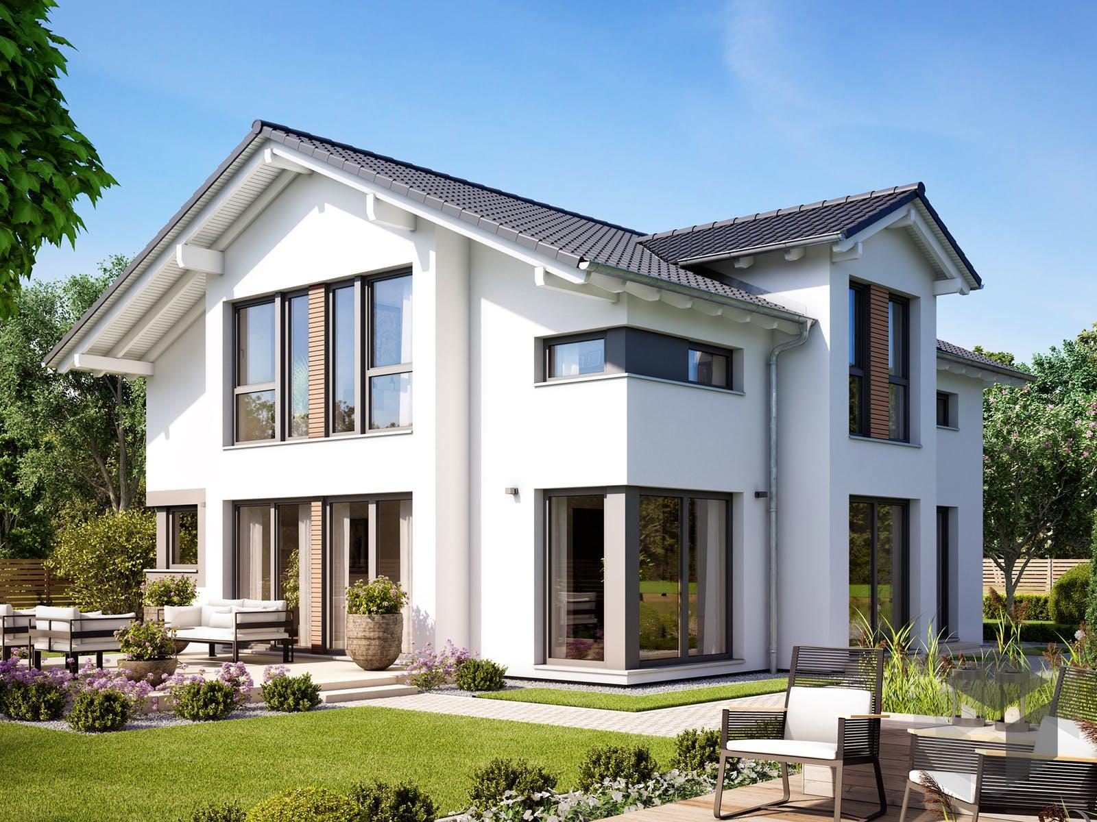 Fertighaus fantastic 161 v4 von bien zenker for Einfamilienhaus zweifamilienhaus