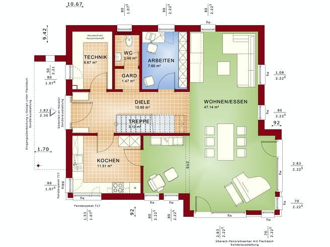 FANTASTIC 162 V4 von Bien-Zenker Grundriss 1