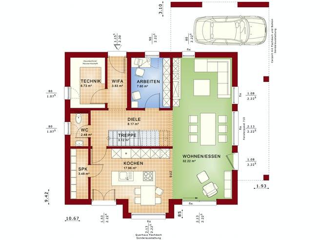FANTASTIC 162 V5 von Bien-Zenker Grundriss 1