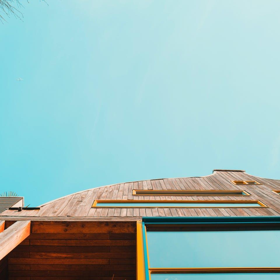 Fertighaus Fassade aus Holz