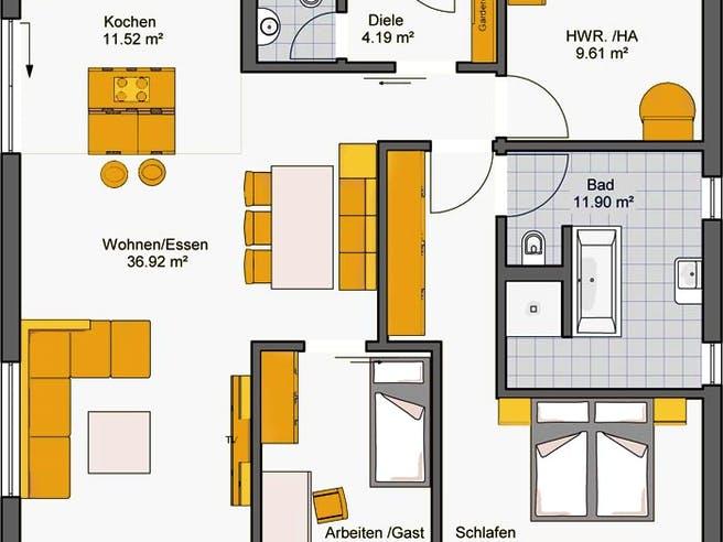Finess 105 von Büdenbender Hausbau Grundriss 1