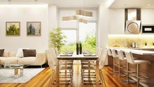 Offene Wohnküche im modernen Stil