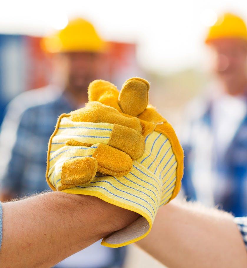 Handschlag Hausbau