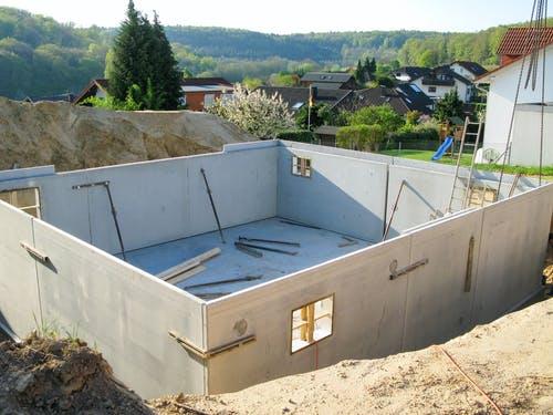 Keller während der Bauphase