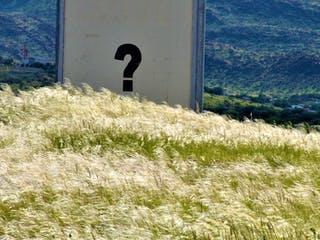 Grundstück Fragezeichen