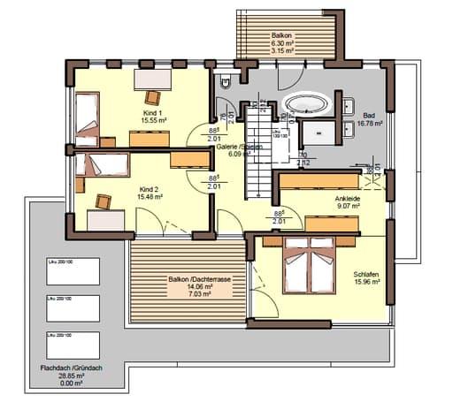 Grundriss - Obergeschoss - Satchmo