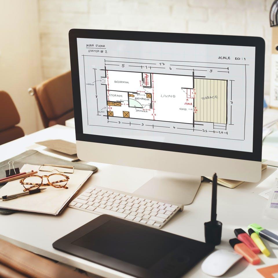 Grundriss am PC planen und berechnen