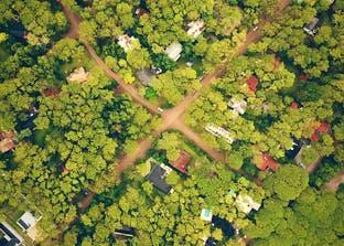 Wohnsiedlung aus der Vogelperspektive