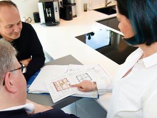 Planung des Grundrisses mit Architekt