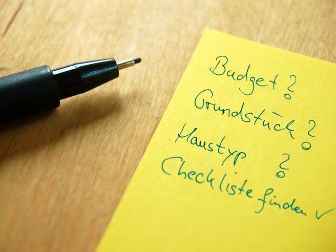 Checkliste für den Hausbau