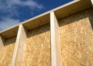 Wand in Holzrahmenbauweise
