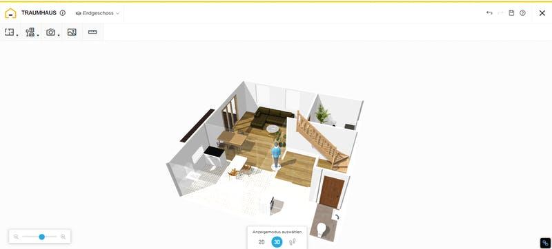 HomeByMe Grundriss 3D mit Möbel