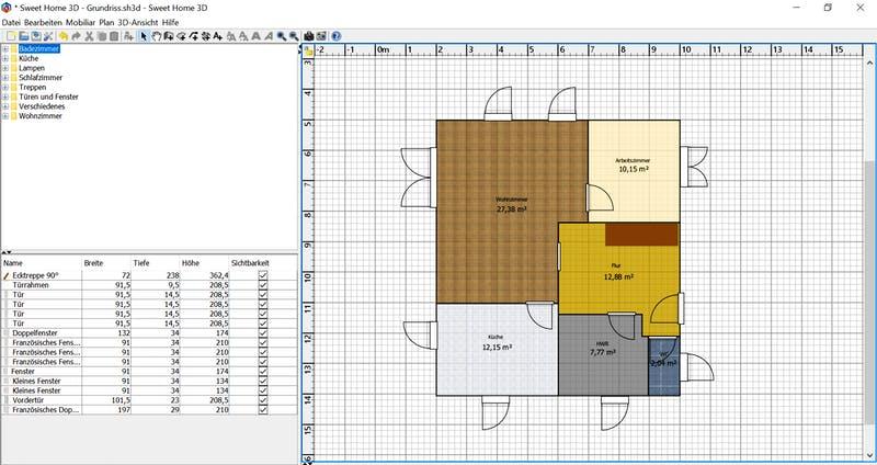 HomeSweetHome Grundriss 2D ohne Möbel