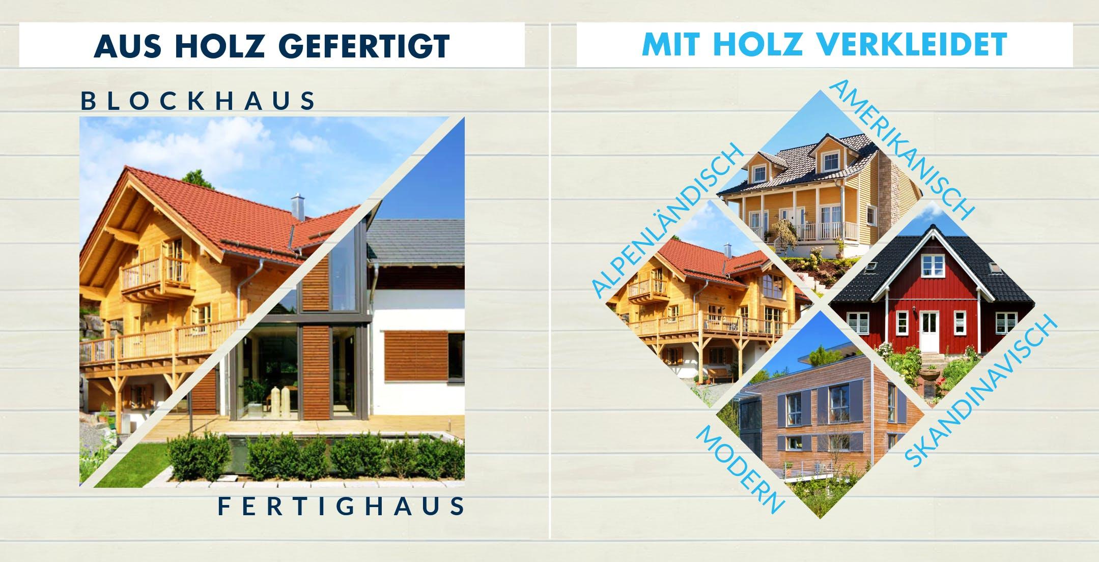 Übersicht von Hausstilen und Bauweisen von Holzhäusern erklärt