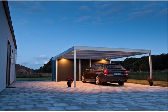Garagen und Carports - Carport mit Gerätehaus - Lyngsoe