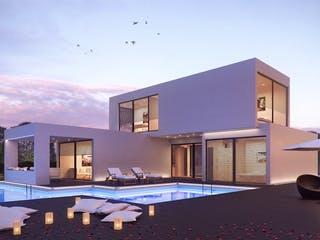 Modernes Haus in Modulbauweise