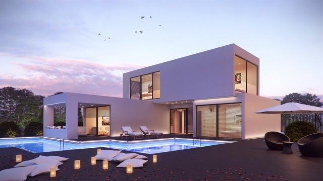 Modernes Haus in modularer Bauweise