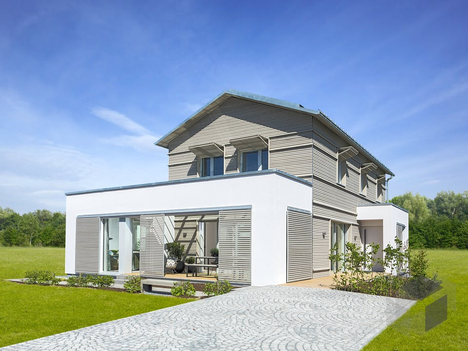 NaturDesign - Musterhaus Köln von Baufritz Außenansicht