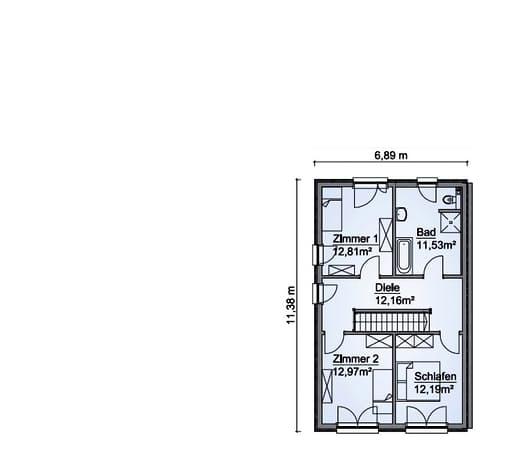 Scanhaus SH 127 DHH Dachgeschoss