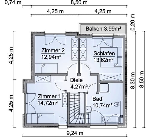 Scanhaus SH 114 S Variante B Dachgeschoss