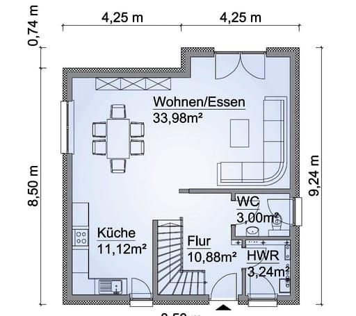 Scanhaus SH 114 S Variante B Erdgeschoss