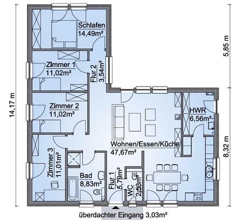 Scanhaus SH 115 WB XXL Erdgeschoss