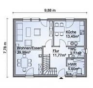Scanhaus SH 122 D Variante A Erdgeschoss