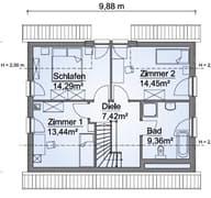 Scanhaus SH 122 FS Variante A Dachgeschoss