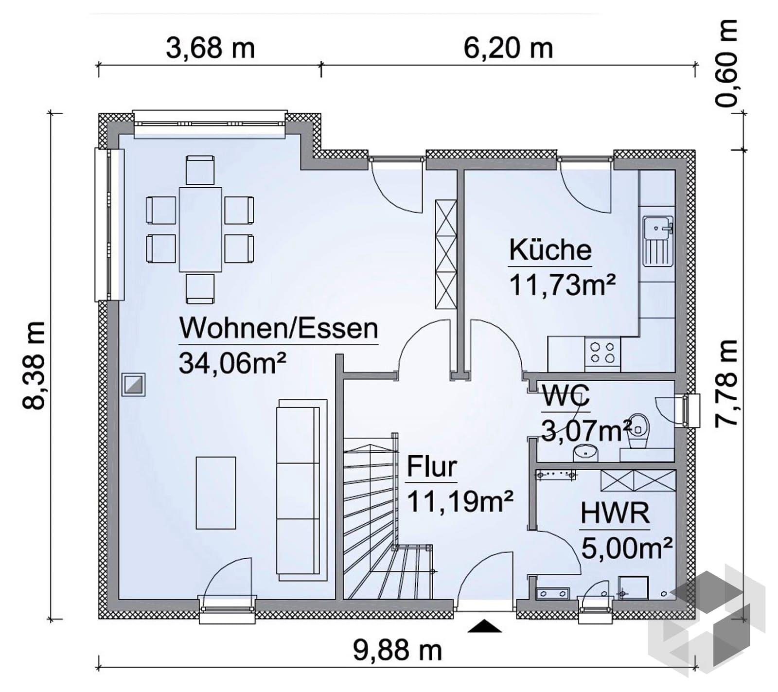 sh 124 var a von scanhaus marlow komplette daten bersicht. Black Bedroom Furniture Sets. Home Design Ideas