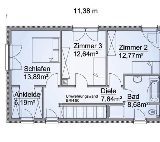 Scanhaus SH 127 S Variante A Dachgeschoss