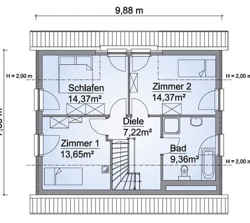 Scanhaus SH 131 Dachgeschoss