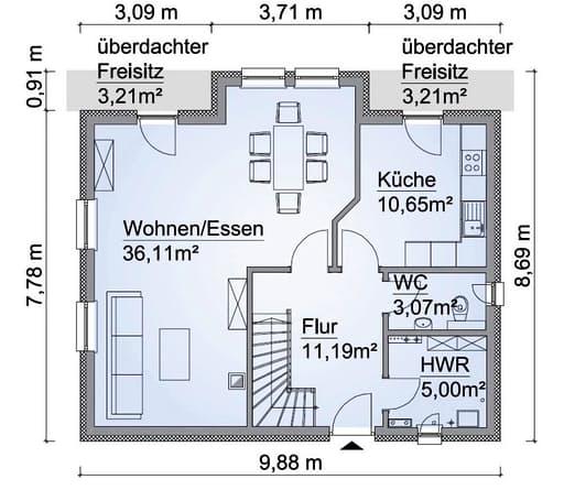 Scanhaus SH 131 Erdgeschoss