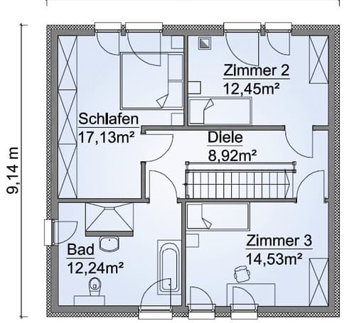 Scanhaus SH 135 S Dachgeschoss
