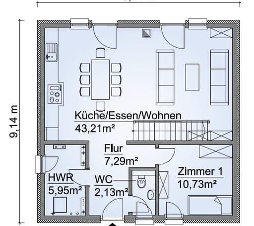 Scanhaus SH 135 S Erdgeschoss