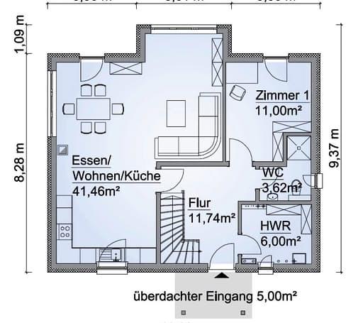 Scanhaus SH 136 XXL Erdgeschoss
