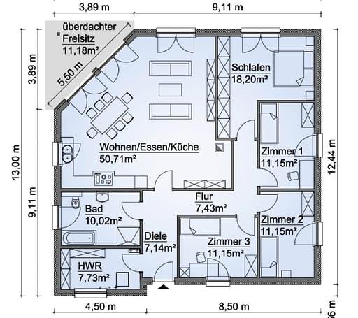 Scanhaus SH 137 B Erdgeschoss