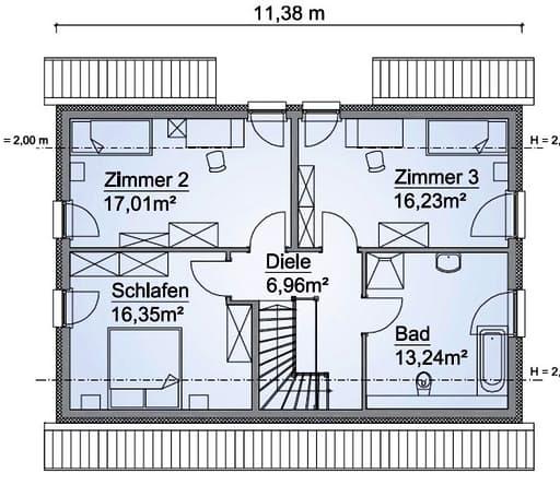 Scanhaus SH 142 D FS Dachgeschoss