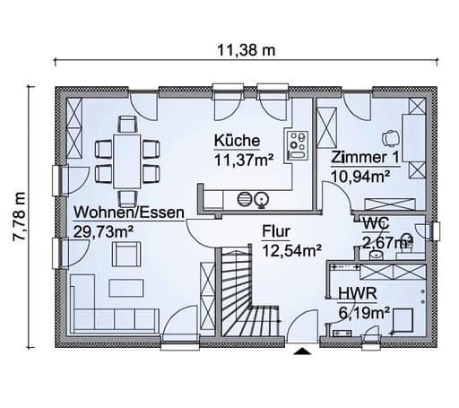 Scanhaus SH 142 D FS Erdgeschoss