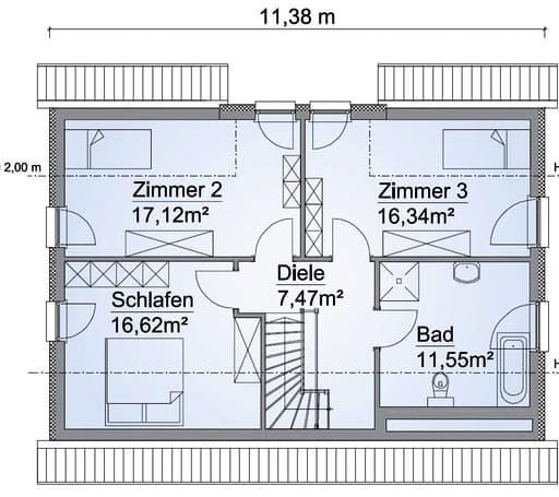 Scanhaus SH 142 FS Dachgeschoss