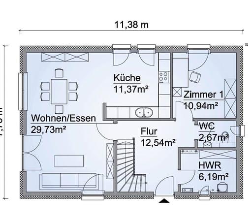 Scanhaus SH 142 FS Erdgeschoss