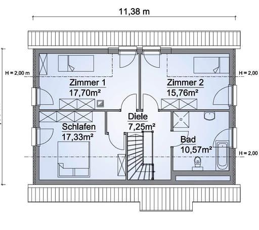 Scanhaus SH 154 Variante D Dachgeschoss