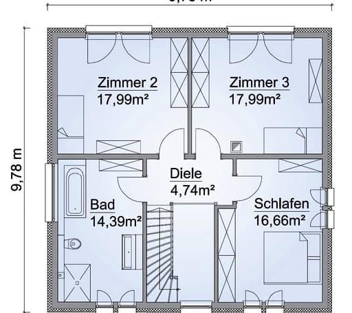 Scanhaus SH 155 S Variante B Dachgeschoss