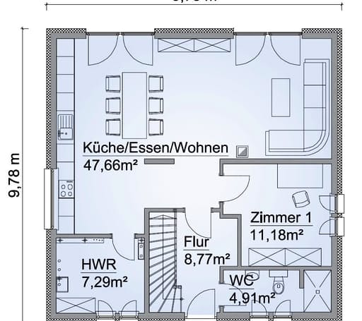 Scanhaus SH 155 S Variante B Erdgeschoss