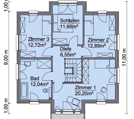 Scanhaus SH 160 S Dachgeschoss